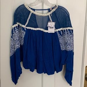 Blue Vintage Top